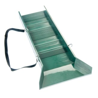 "30"" Light Weight Green Sluice Box with Shoulder Strap & 2 Carabineer"