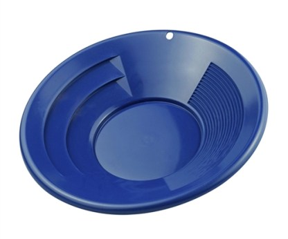 "12"" Gold Pan, Dual Riffles - Blue"