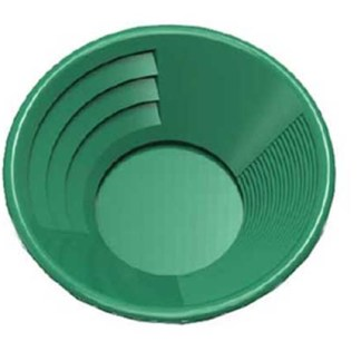 "12"" Gold Pan, Dual Riffles - Green"