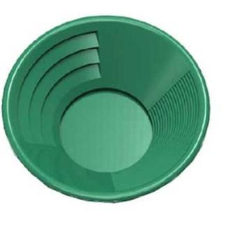 "14"" Gold Pan, Dual Riffles - Green"
