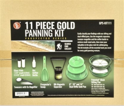 11 PC GOLD PANNING KIT