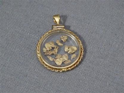 Circular Gold Plated Rope Locket W/ 1 Gram Gold