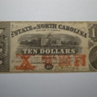 $10 - 1863 STATE OF NORTH CAROLINA -CR# 122 -Cir.