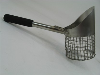 "Royal 15"" Single Stainless Steel Beach Scoop"