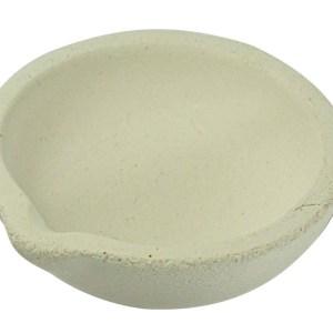 """3"""" Alumina Ceramic Pot - Round, Max Temp. 2500 Deg. F"""