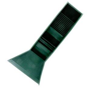 "Pocket Sized TPR Plastic (RUBBERIZED) Green Sluice Box - 12""X3""x5.5"""