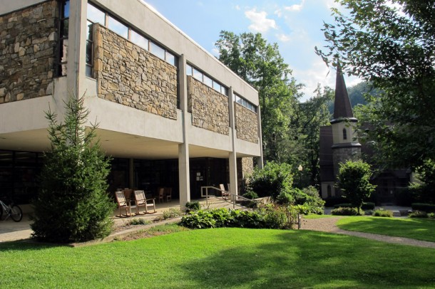 Montreat College library, pictured in September 2013. Angie Newsome/Carolina Public Press