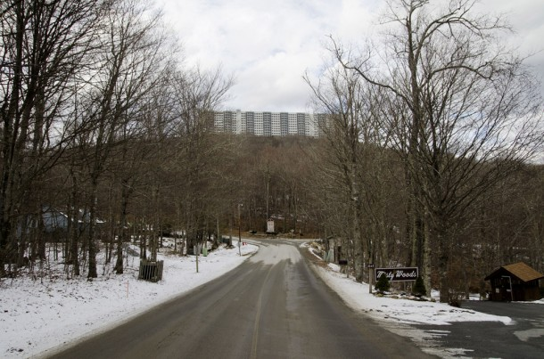 About 30 full-time residents live in the gated Sugar Top condominium complex, located in Avery County and pictured in January. The building prompted the passage of legislation that changed mountaintop development in 24 North Carolina counties. Max Cooper/Carolina Public Press