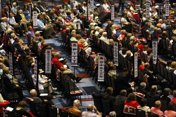 An estimated 1,000 people attended the three-day NC GOP convention, held in Cherokee last weekend. Gwen Albers/Carolina Public Press