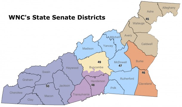 WNC's State Senate Districts