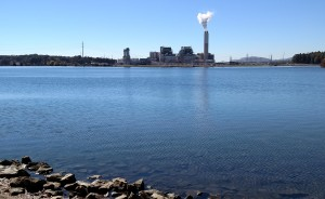 Coal ash being reused at Asheville's airport comes from Duke Energy's Lake Julian power plant, seen here. (Photo by Frank Taylor)