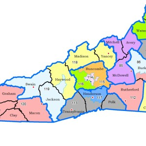 Proposed N.C. House district map for WNC.