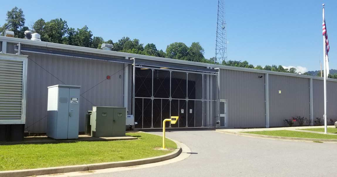 A security gate at the Cherokee County detention center, in Murphy, N.C. Frank Taylor / Carolina Public Press