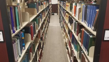 UNC-Asheville library shelves