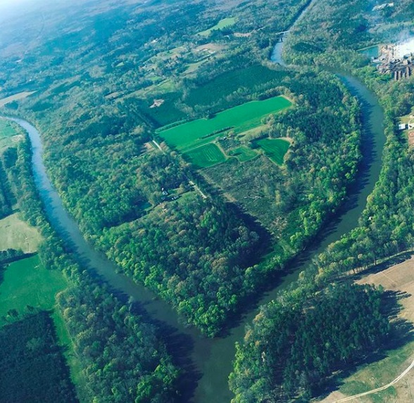 Haw and Deep rivers converge to form the Cape Fear River.