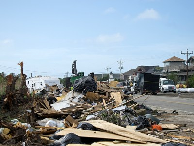 Dorian disaster debris Ocracoke
