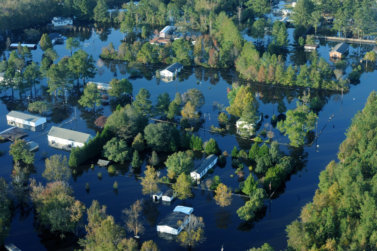 Flood in Craven County following Hurricane Matthew in 2016.