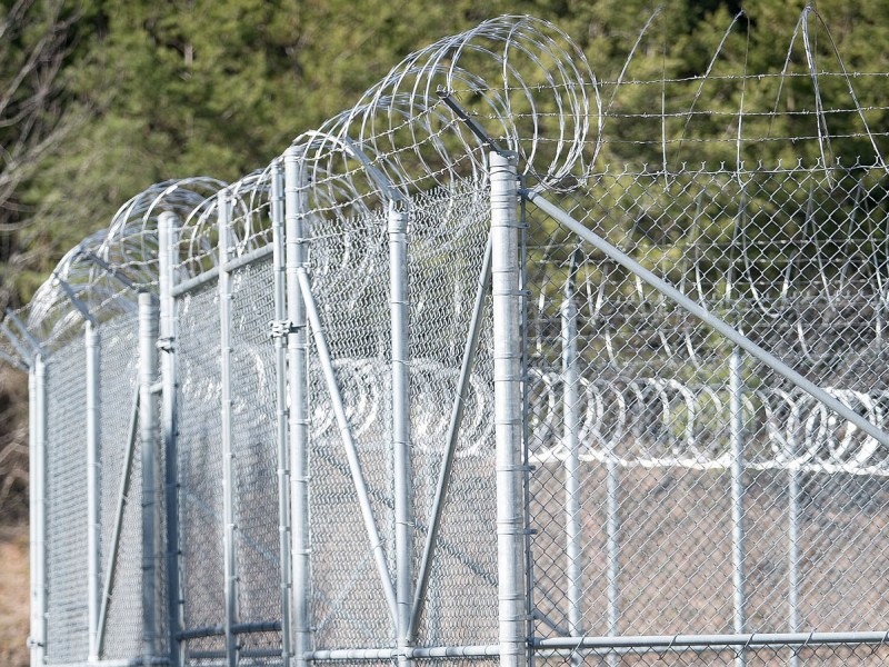 An enclosure outside the Cherokee County Detention Center in Murphy. A federal lawsuit has been filed in the July 2018 death of Josh Long after he was detained at the jail for hours. Colby Rabon / Carolina Public Press