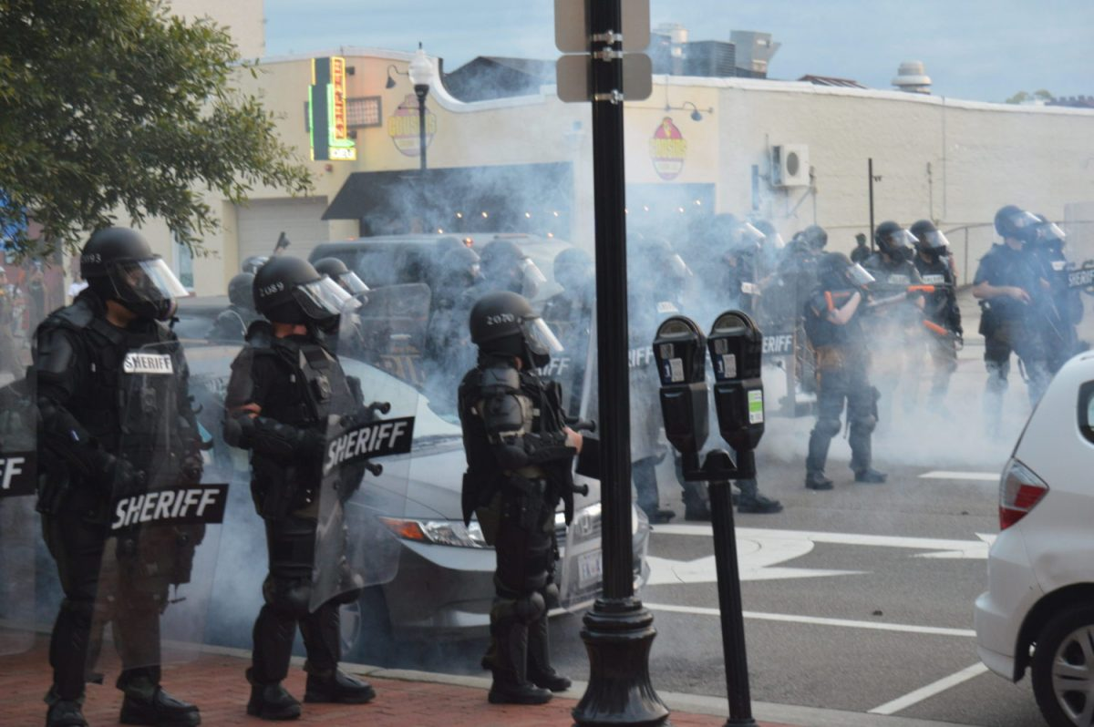 New Hanover County Sheriff's deputies deployed tear gas to disperse a crowd on May 31. Emily Featherston/WECT
