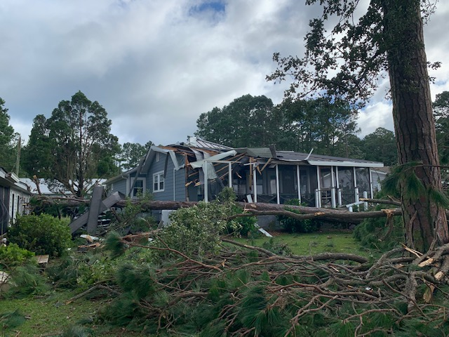 Much of the damage from Hurricane Isaias in Beaufort County was caused by tornadoes that the main storm spawned. Photo courtesy of Beaufort County