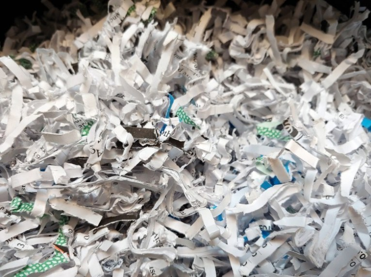 Cherokee County Department of Social Services paid a contractor to shred a massive amount of documents in 2018, at the same time as a criminal investigation into unlawful child seizures. (Photo illustration by Frank Taylor / Carolina Public Press)