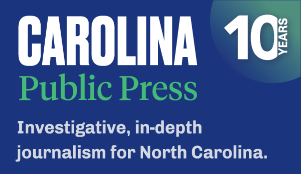 Carolina Public Press 10 years ogo with dark blue background