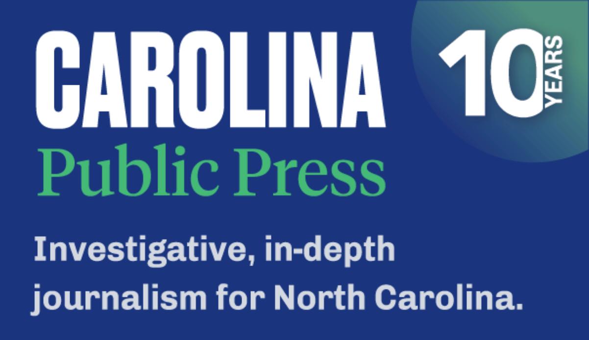 Carolina Public Press 10 years ogo with dark blue background
