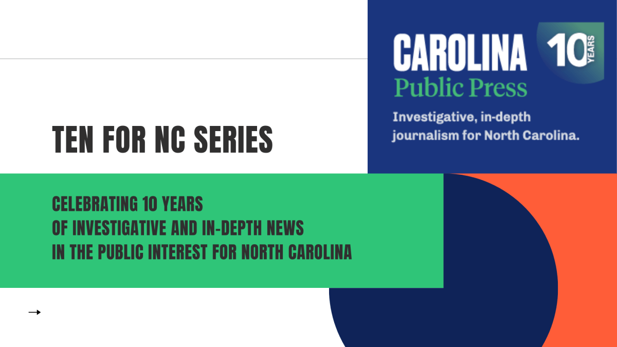 Ten for NC series from Carolina Public Press