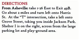 Directions from Asheville to Jackson Park - Civitan Sun Run