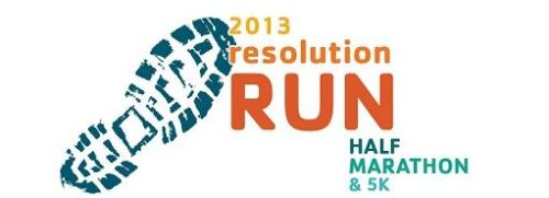 Resolution Half Marathon and 5k Logo