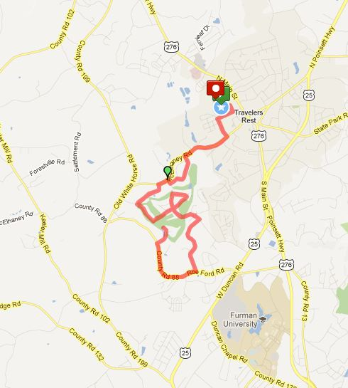 Resolution Half Marathon Course (click to access interactive version at MapMyRun)