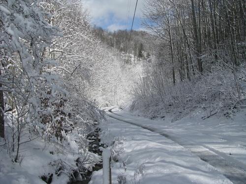 Winter in the Mountain North Carolina