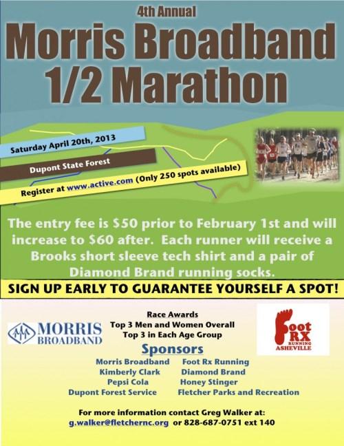 Morris Broadband DuPont Half Marathon 2013