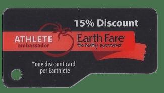 Earth Fare Athlete Ambassador Card - sm