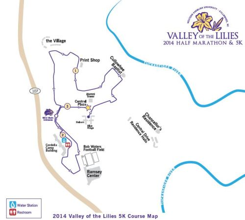 Valley of the Lilies 5k Course (click for large PDF)