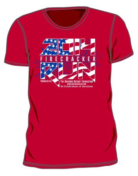 2014 Brevard Firecracker Race Shirt