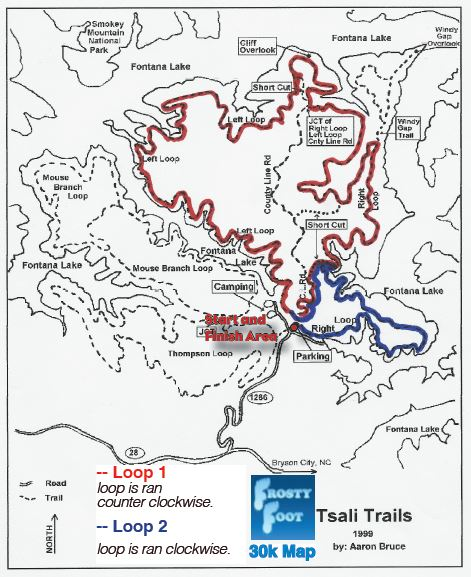 Frosty Foot 30k Course Map