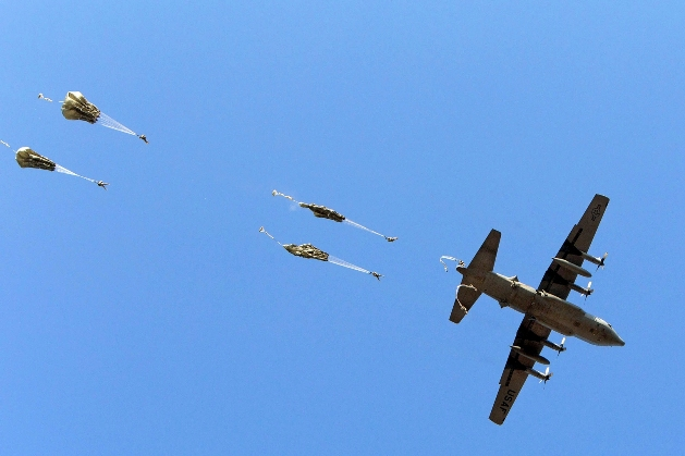 Paratroopers Exiting C-130