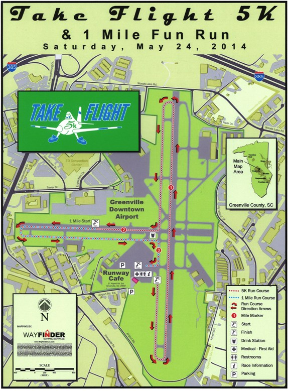 Take Flight 5k Course Map