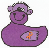Purple Rubber Monkey