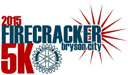 Bryson City Firecracker 5k Logo July 4 2015 Bryson City NC