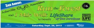 Run the Forest 5k Banner 500