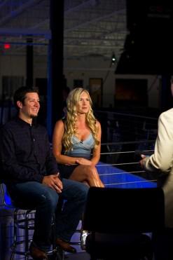 NASCAR Busch Series Champion Martin Truex, Jr with Girlfriend Sherry Pollex of Lavendar Boutique