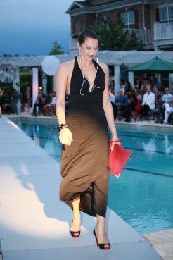 black dress on runway 2