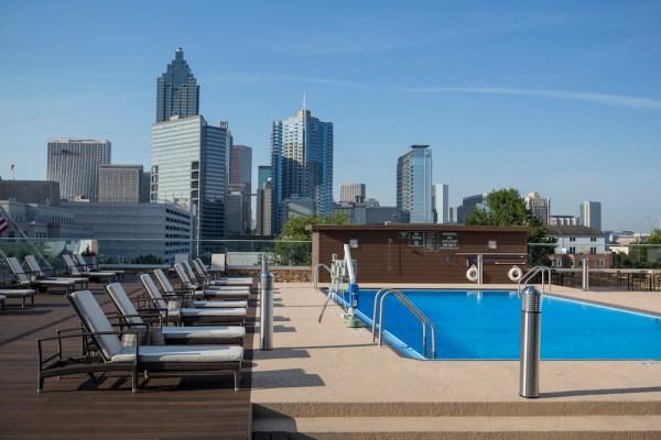 Crowne Plaza Atlanta Midtown – Pool Deck with Downtown View