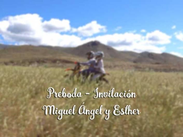 Preboda-Invitación Miguel Ángel y Esther