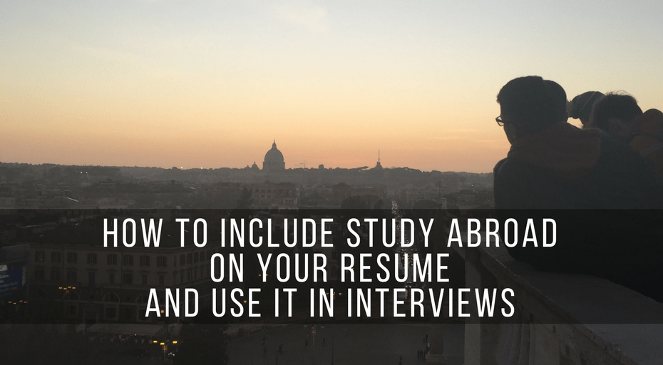 include study abroad on your resume