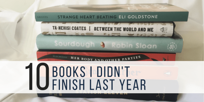 books i didn't finish