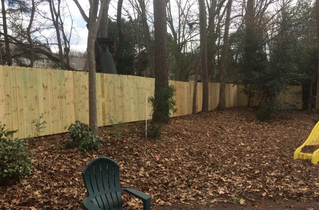 Privacy Fence Install In Lake Norman 187 Carolina Wood Fence