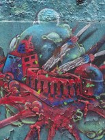 Mural protesting the continued use of the Santamaria bullring in Bogota
